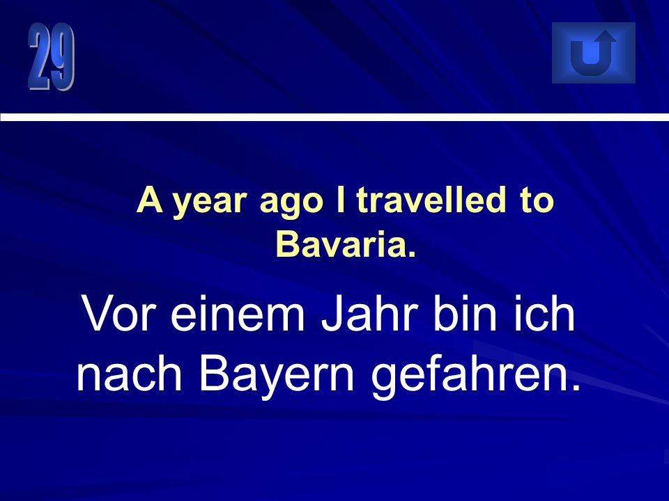 A year ago I travelled to Bavaria.