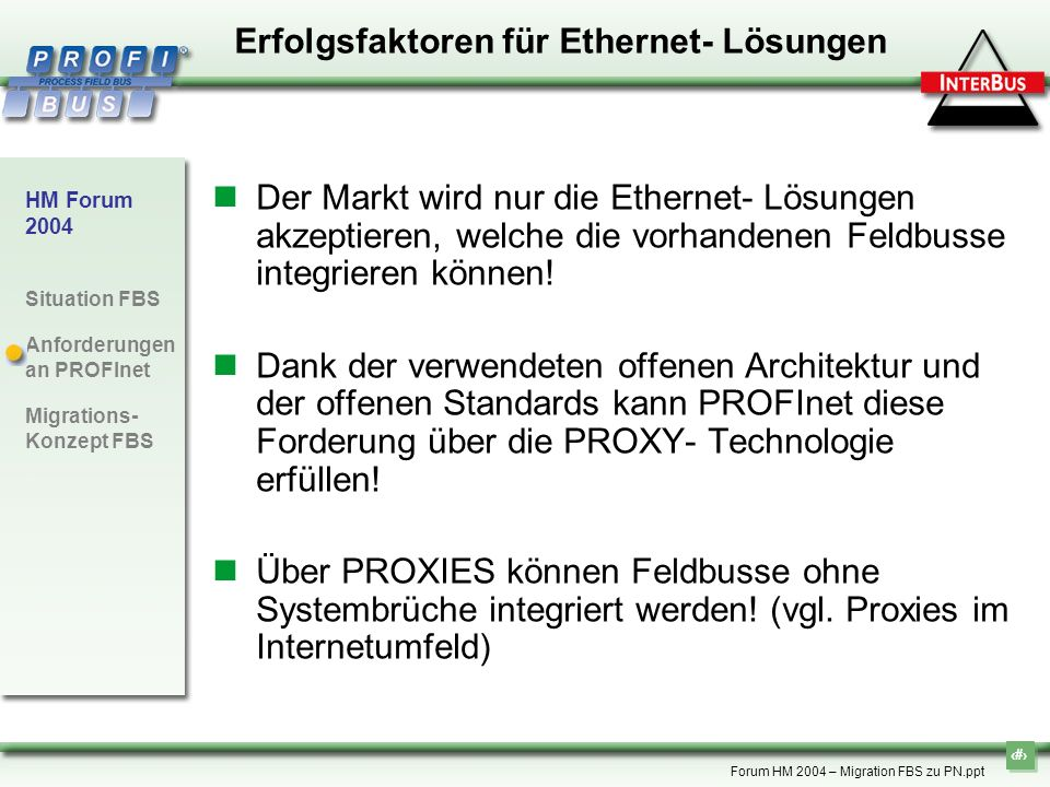 Erfolgsfaktoren für Ethernet- Lösungen