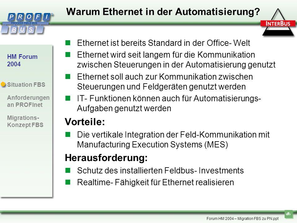 Warum Ethernet in der Automatisierung