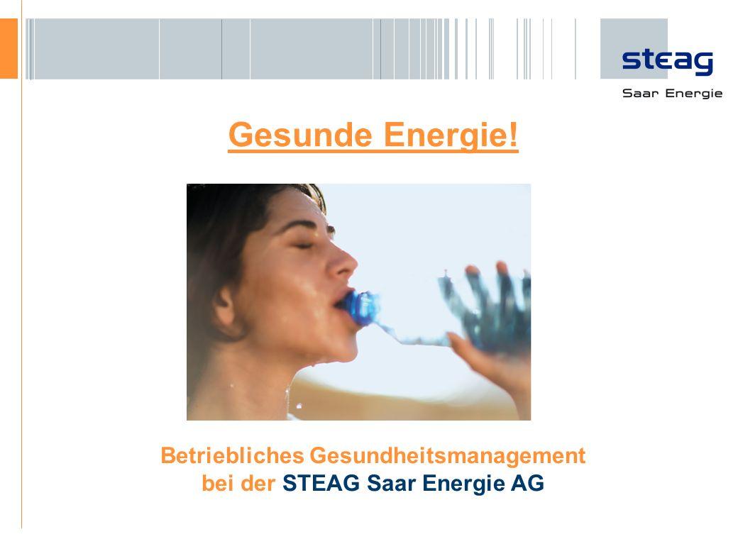 Betriebliches Gesundheitsmanagement bei der STEAG Saar Energie AG