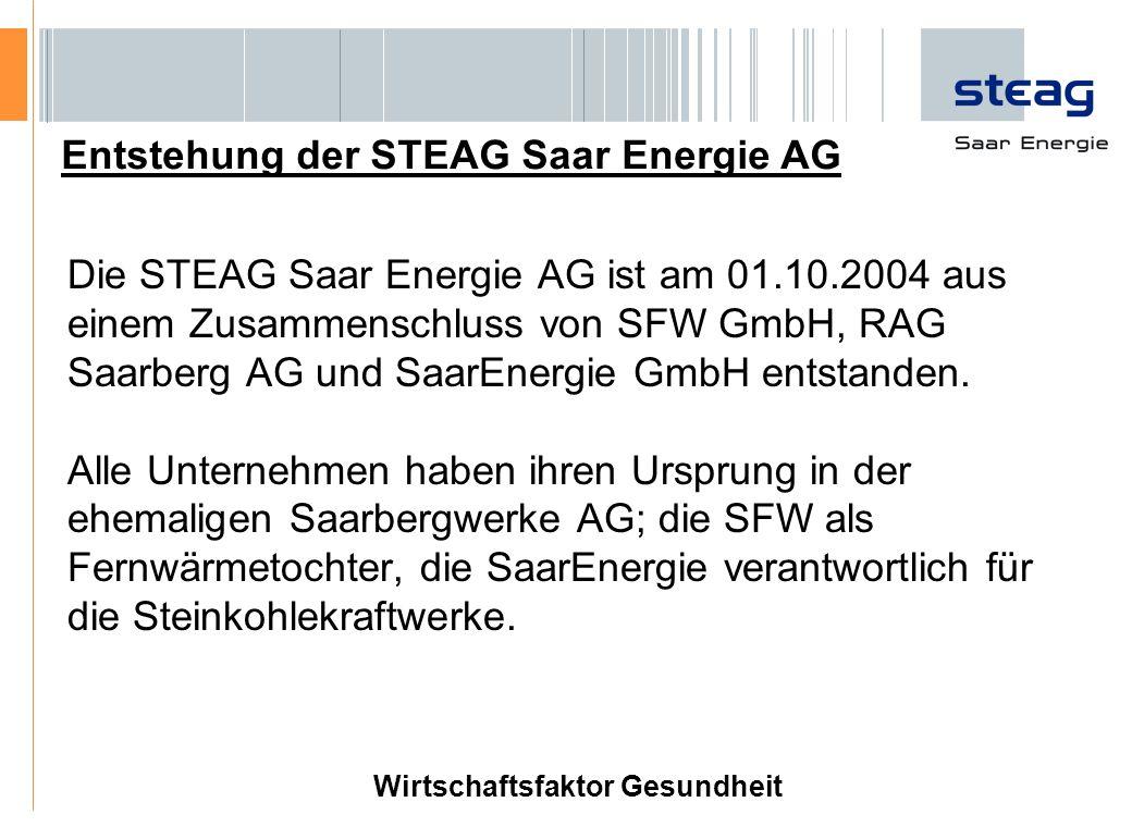 Entstehung der STEAG Saar Energie AG