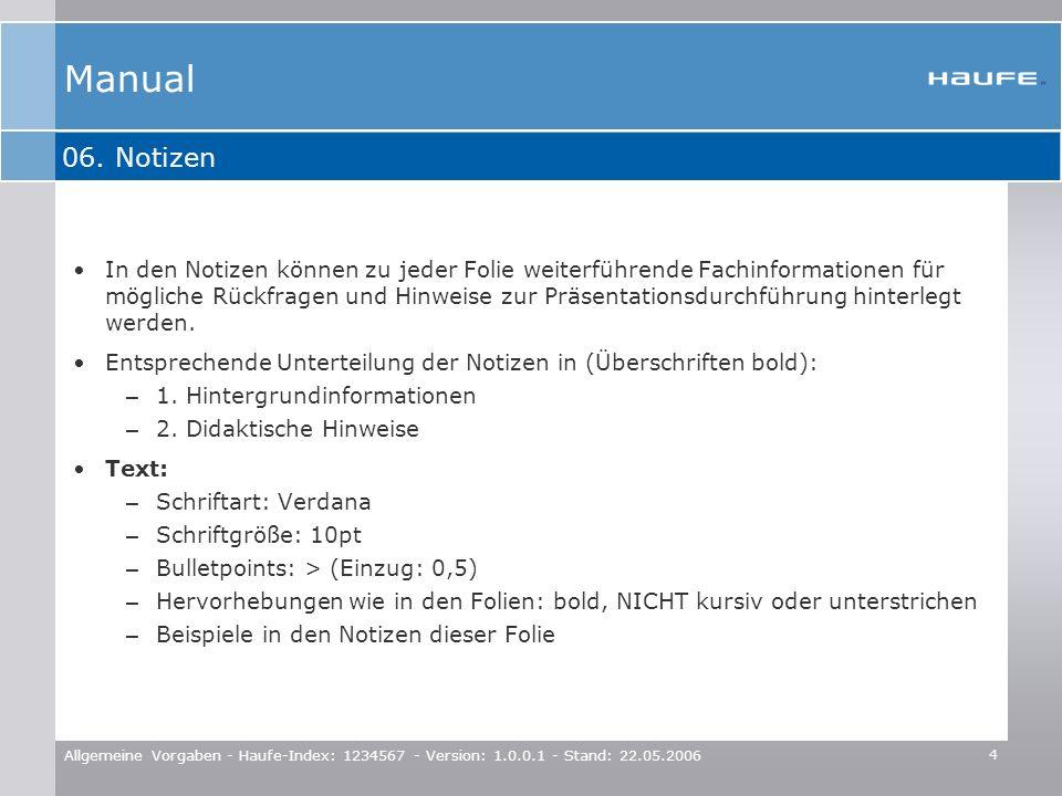 Manual06. Notizen.