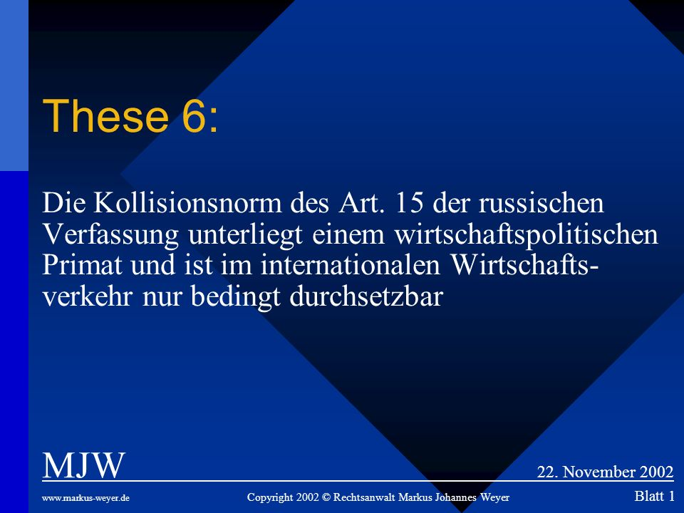 These 6: Die Kollisionsnorm des Art
