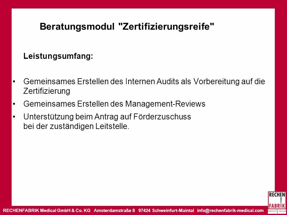 Beratungsmodul Zertifizierungsreife
