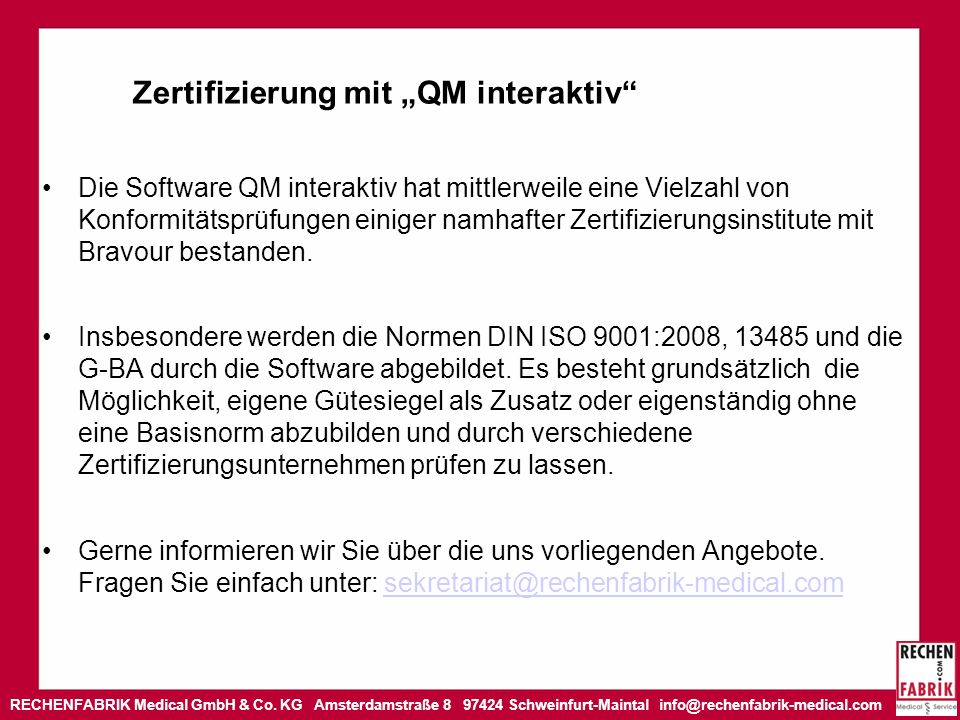 """Zertifizierung mit """"QM interaktiv"""