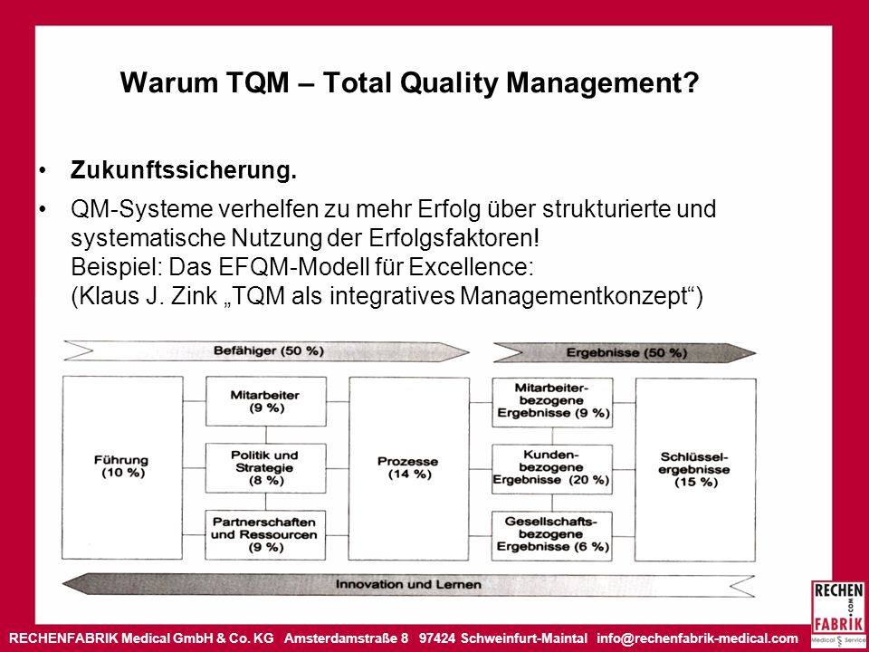 Warum TQM – Total Quality Management