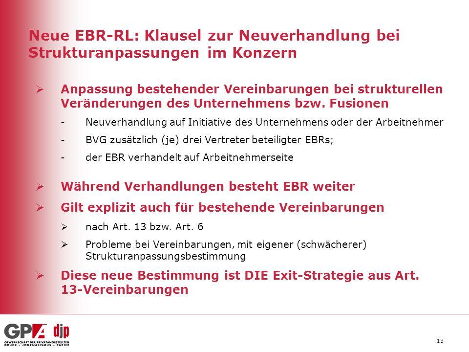 Neue EBR-RL: Klausel zur Neuverhandlung bei Strukturanpassungen im Konzern