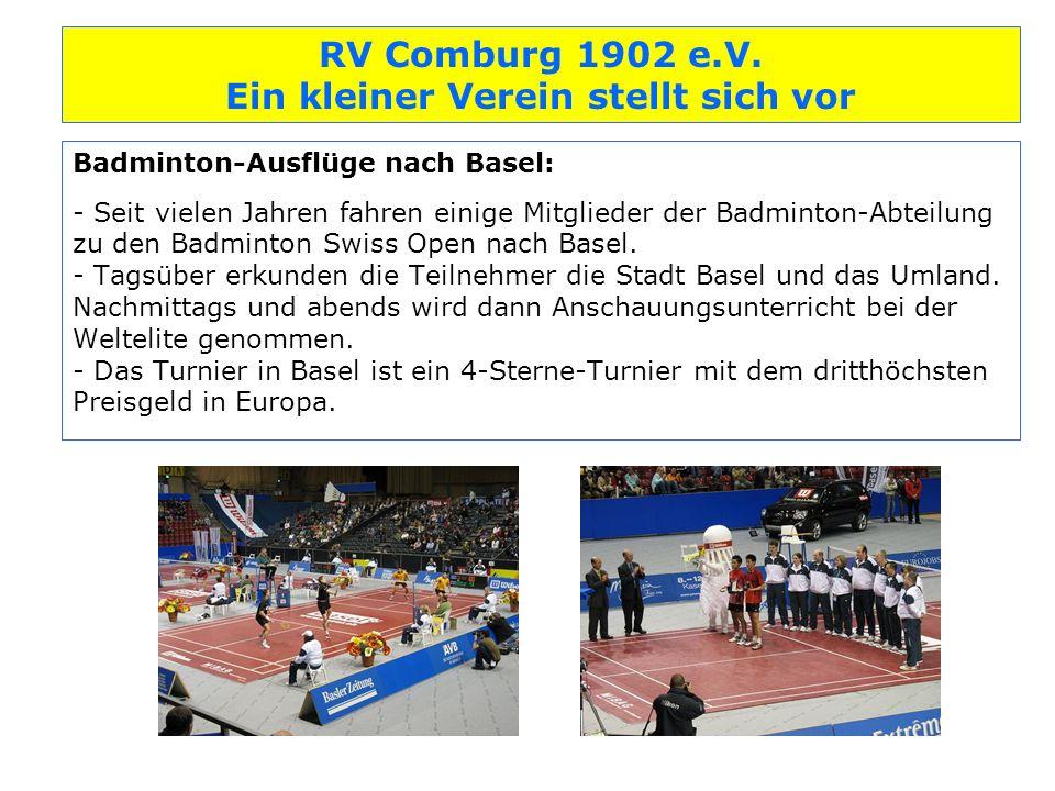 Badminton-Ausflüge nach Basel: - Seit vielen Jahren fahren einige Mitglieder der Badminton-Abteilung zu den Badminton Swiss Open nach Basel.