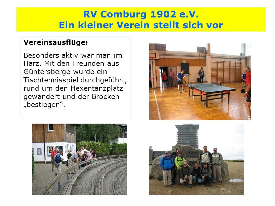 Vereinsausflüge: Besonders aktiv war man im Harz