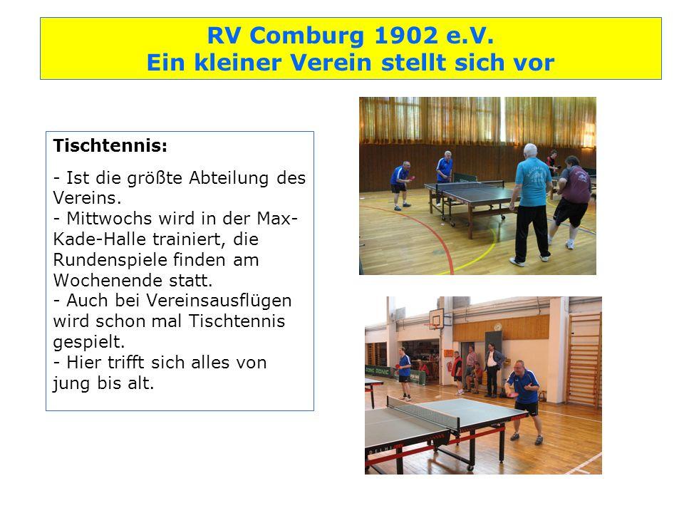 Tischtennis: - Ist die größte Abteilung des Vereins