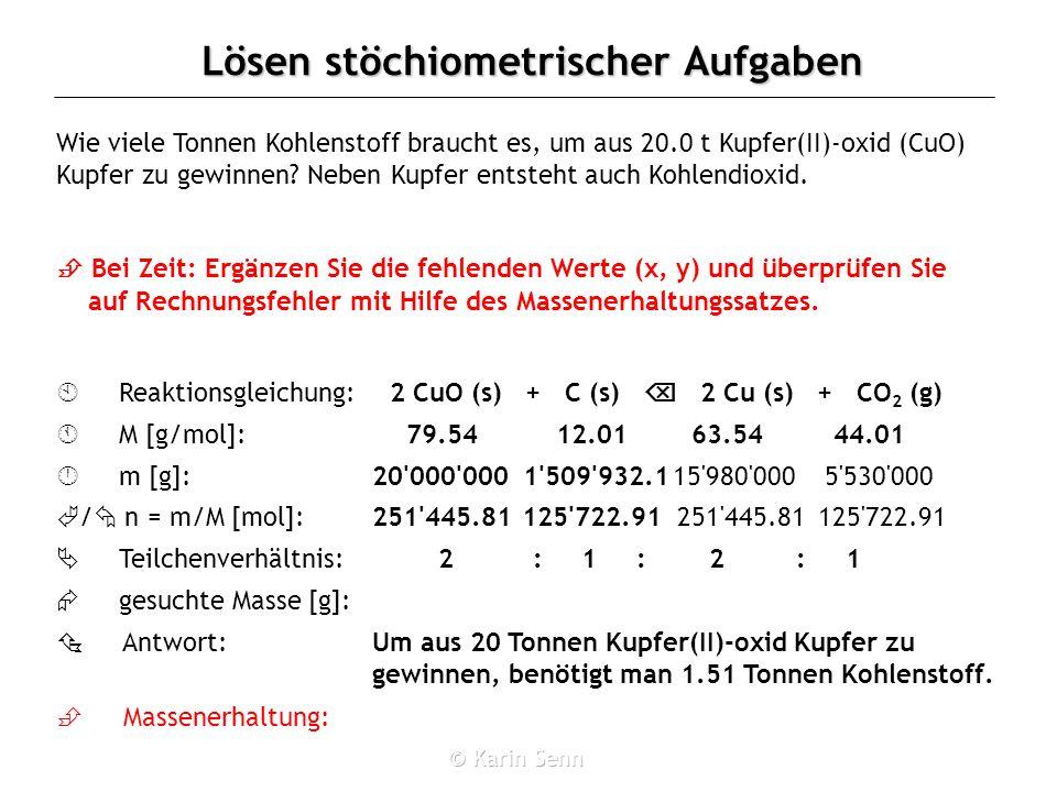 2 CuO (s) + C (s)  2 Cu (s) + CO2 (g)