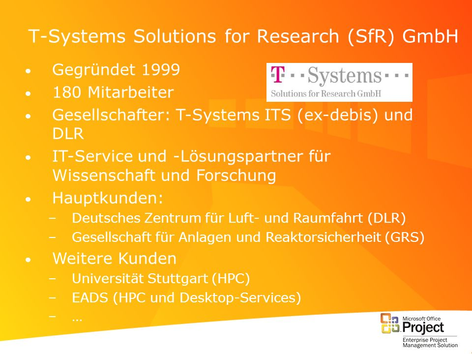 T-Systems Solutions for Research (SfR) GmbH