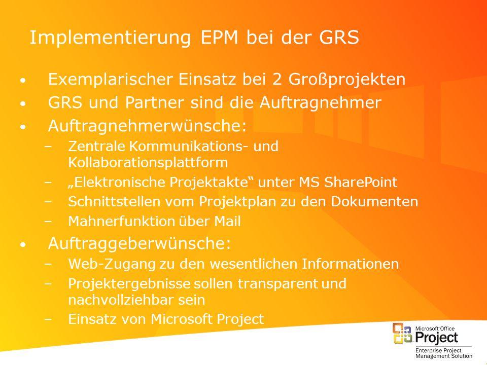 Implementierung EPM bei der GRS
