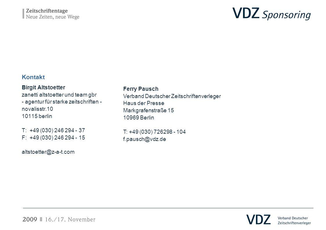 Kontakt Birgit Altstoetter Ferry Pausch