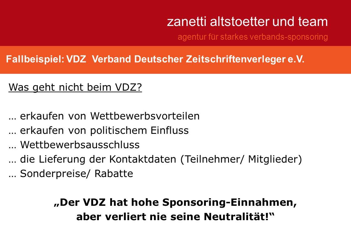 """""""Der VDZ hat hohe Sponsoring-Einnahmen,"""