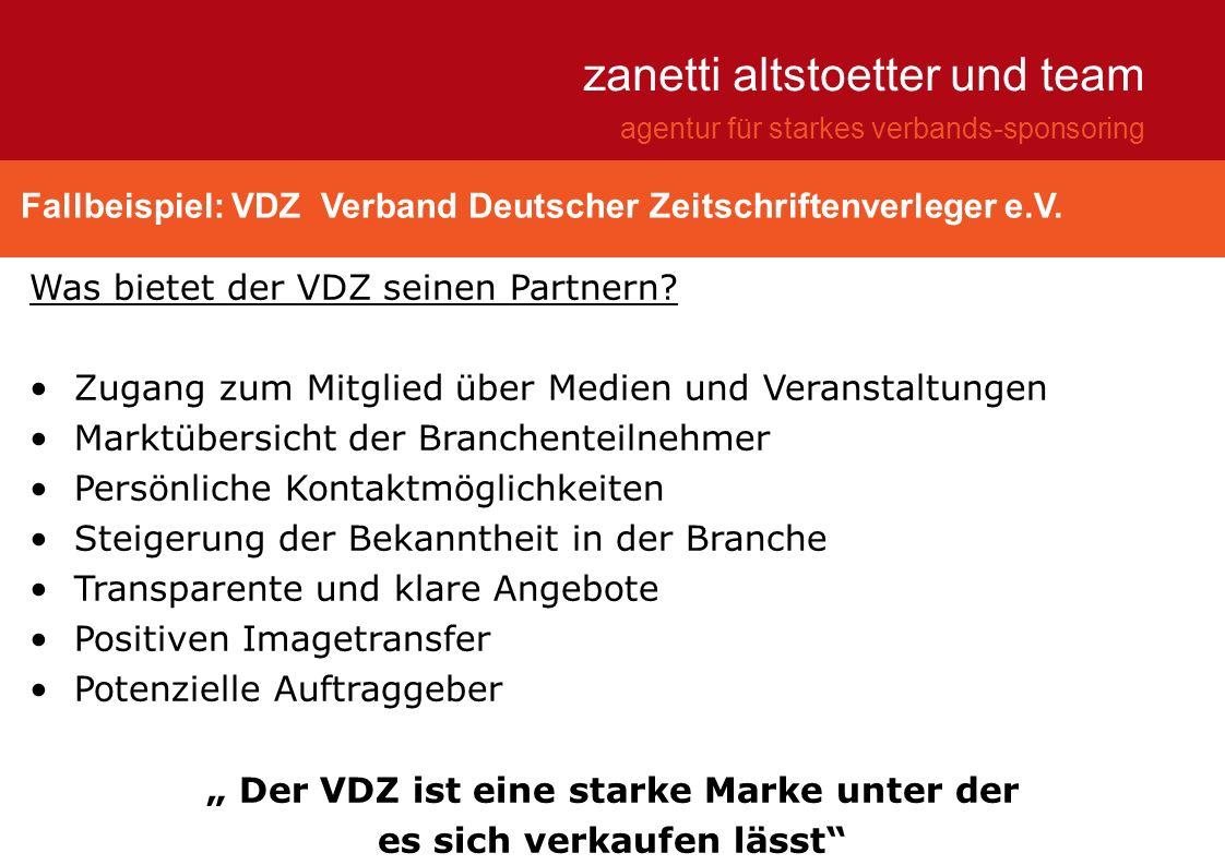 """"""" Der VDZ ist eine starke Marke unter der es sich verkaufen lässt"""