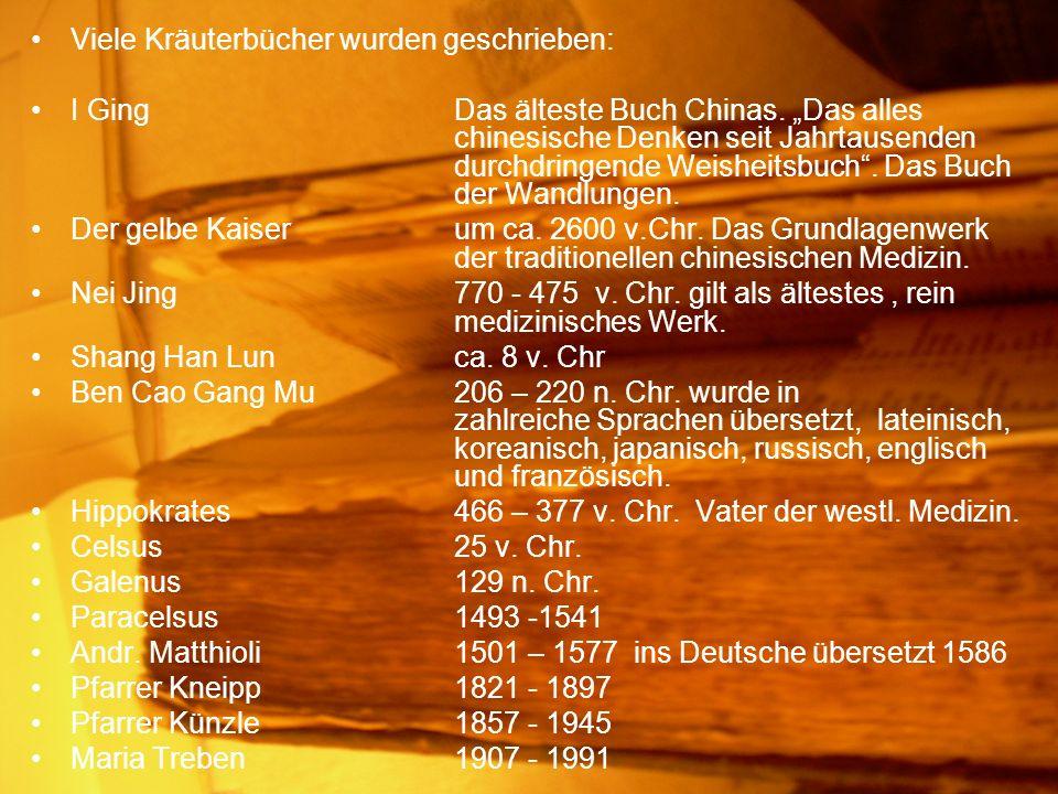 Viele Kräuterbücher wurden geschrieben:
