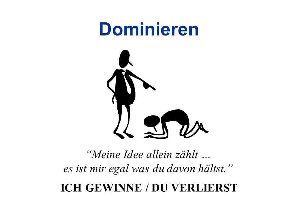 ICH GEWINNE / DU VERLIERST