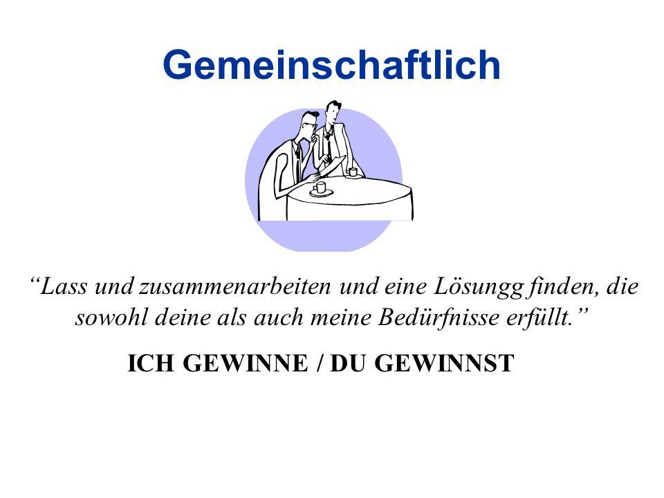 ICH GEWINNE / DU GEWINNST