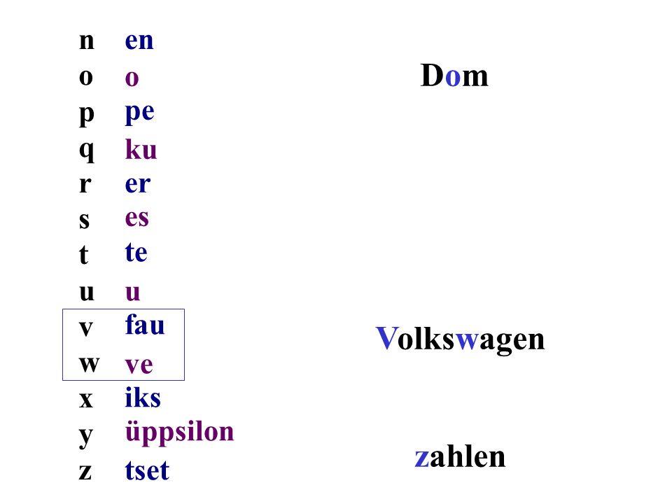Dom Volkswagen zahlen n o p q r s t u v w x y z en o pe ku er es te u