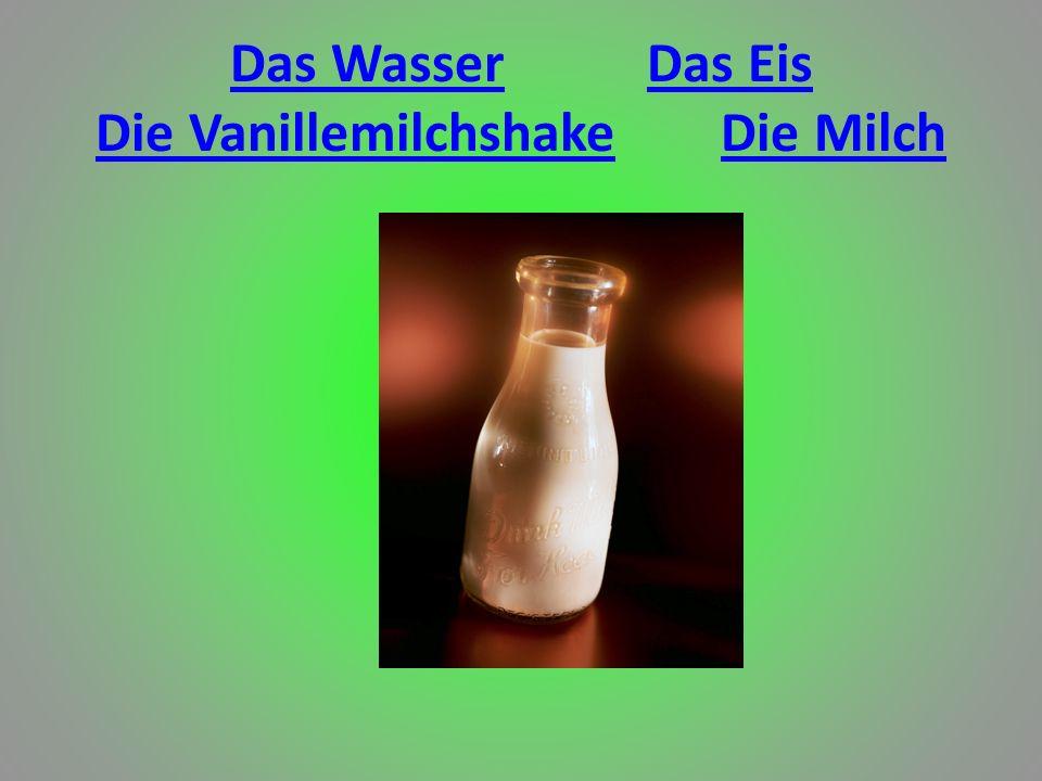 Das Wasser Das Eis Die Vanillemilchshake Die Milch