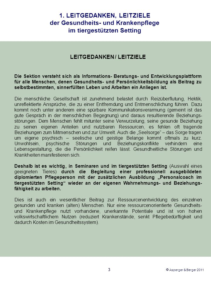 LEITGEDANKEN / LEITZIELE