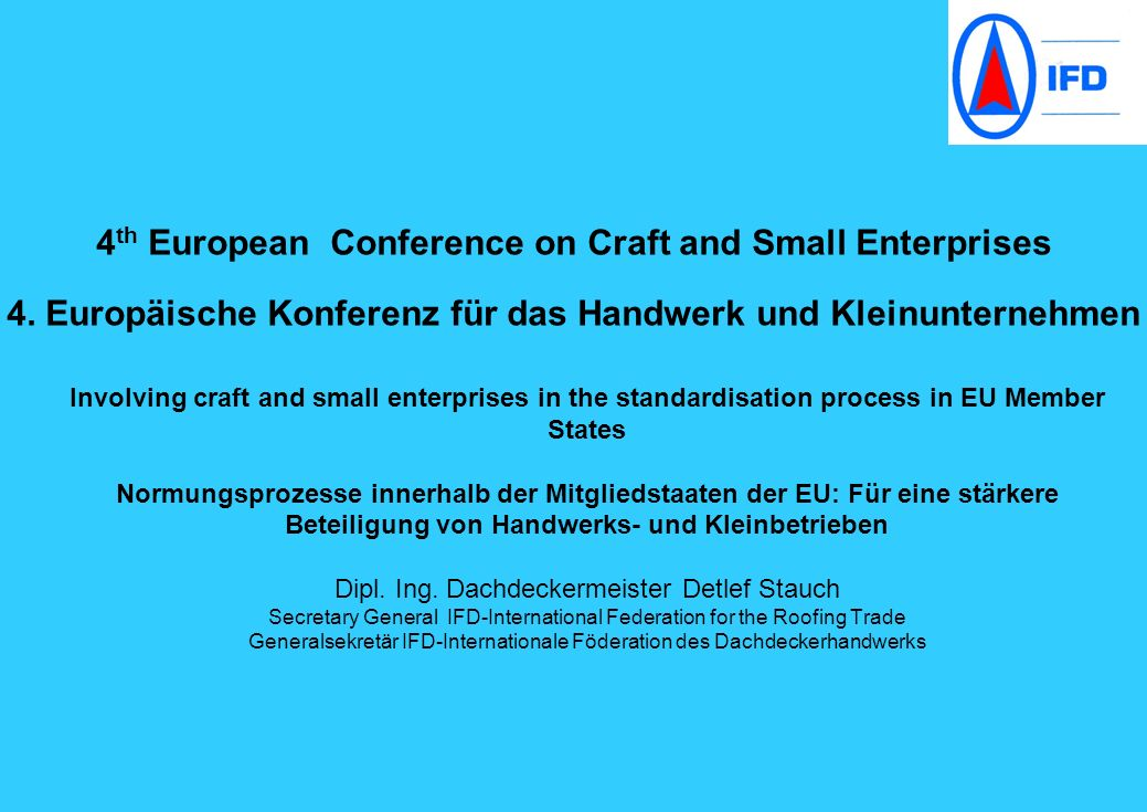 4th European Conference on Craft and Small Enterprises 4