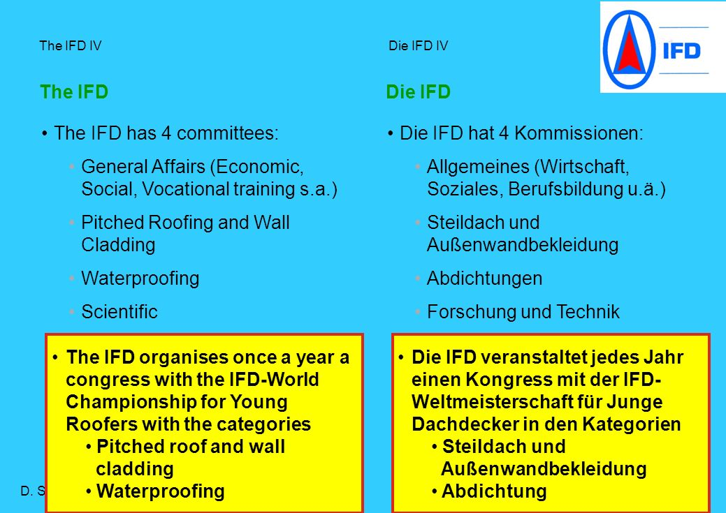 The IFD has 4 committees: