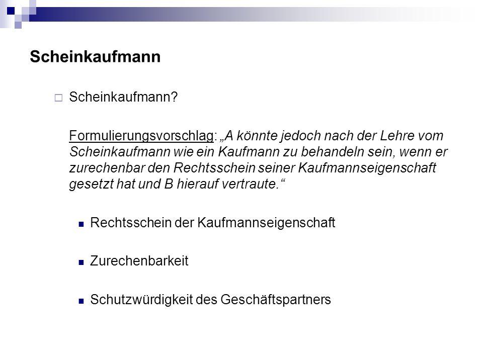 Scheinkaufmann Scheinkaufmann