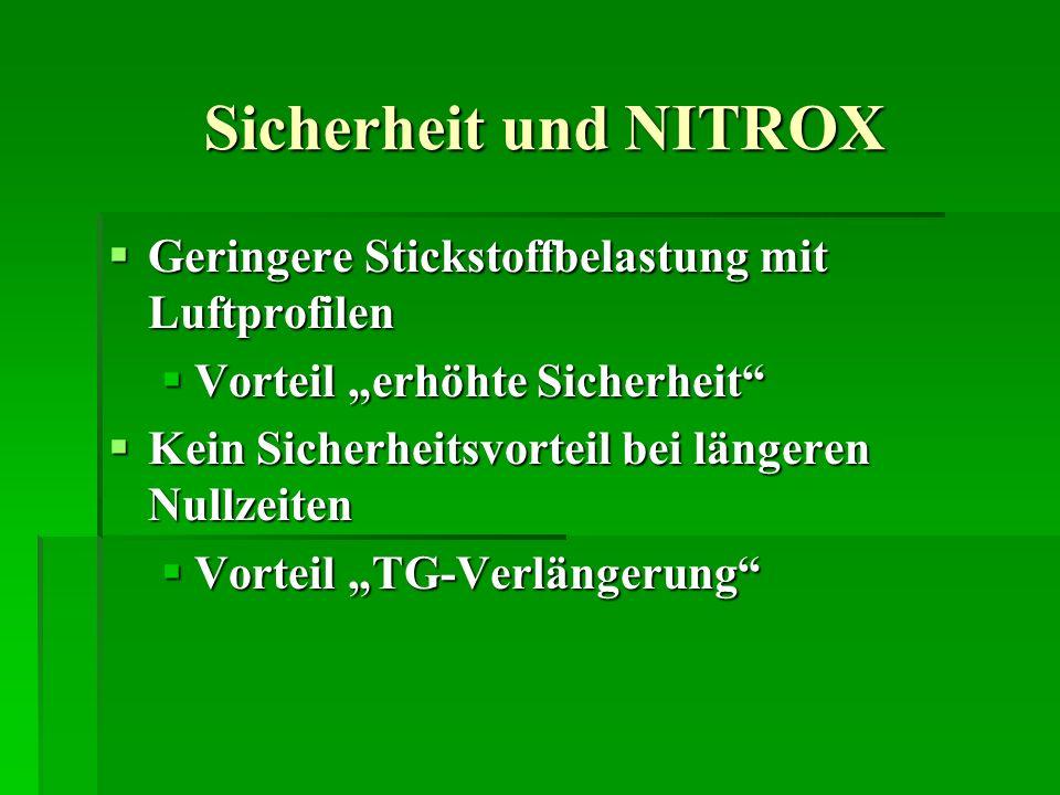 Sicherheit und NITROX Geringere Stickstoffbelastung mit Luftprofilen