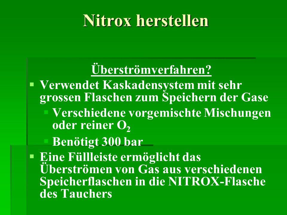 Nitrox herstellen Überströmverfahren