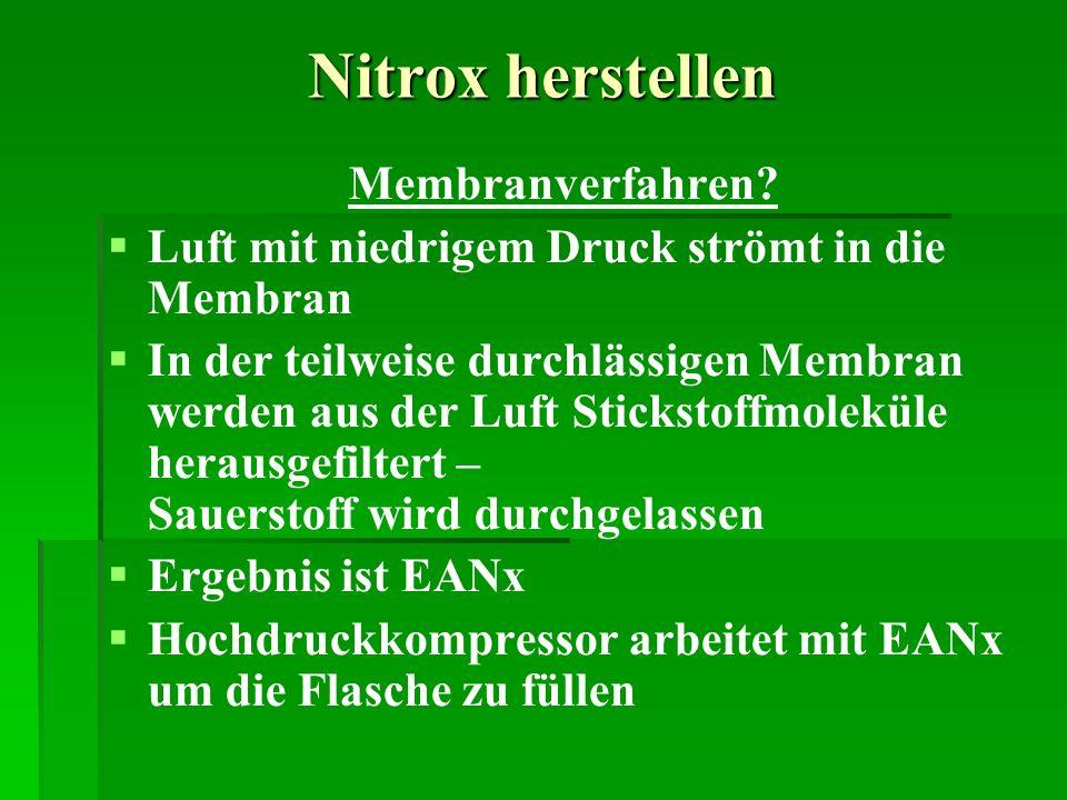 Nitrox herstellen Membranverfahren