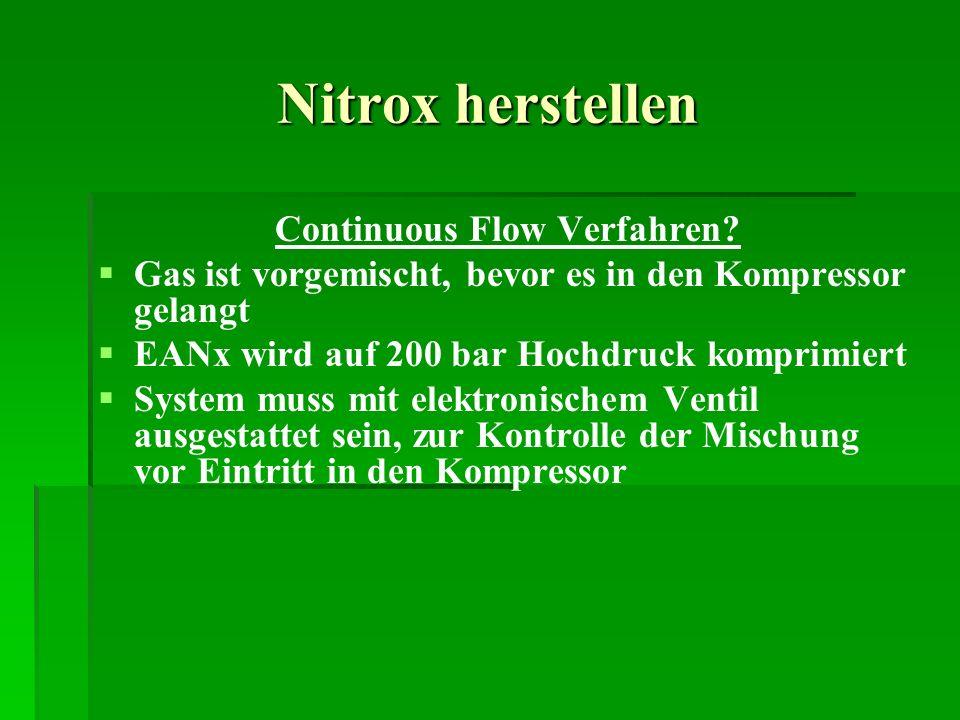 Continuous Flow Verfahren