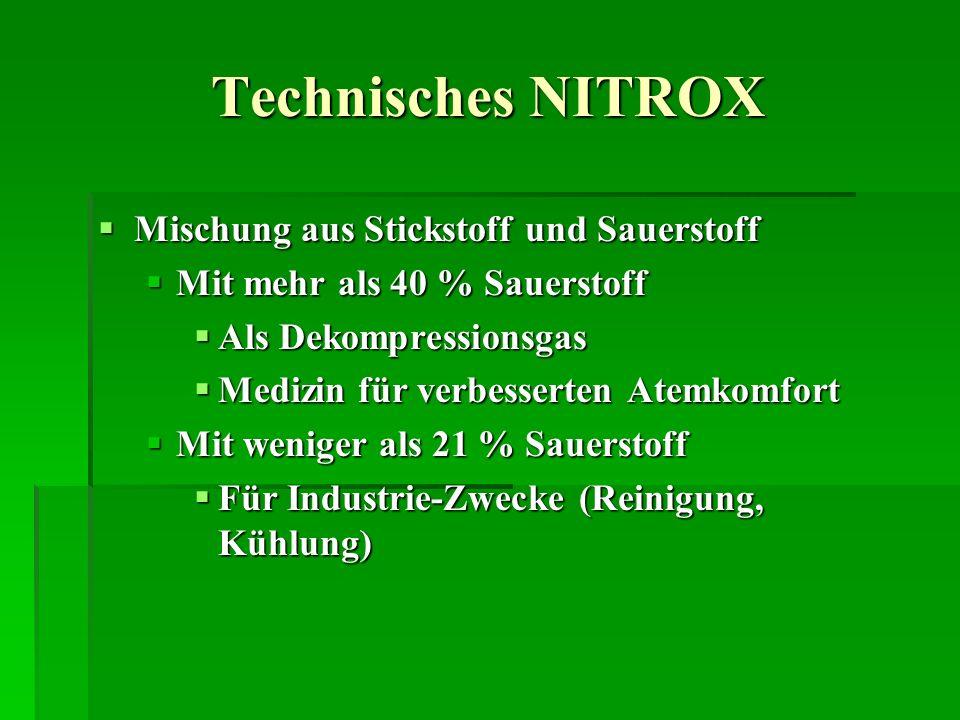Technisches NITROX Mischung aus Stickstoff und Sauerstoff