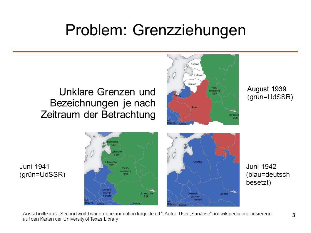 Problem: Grenzziehungen