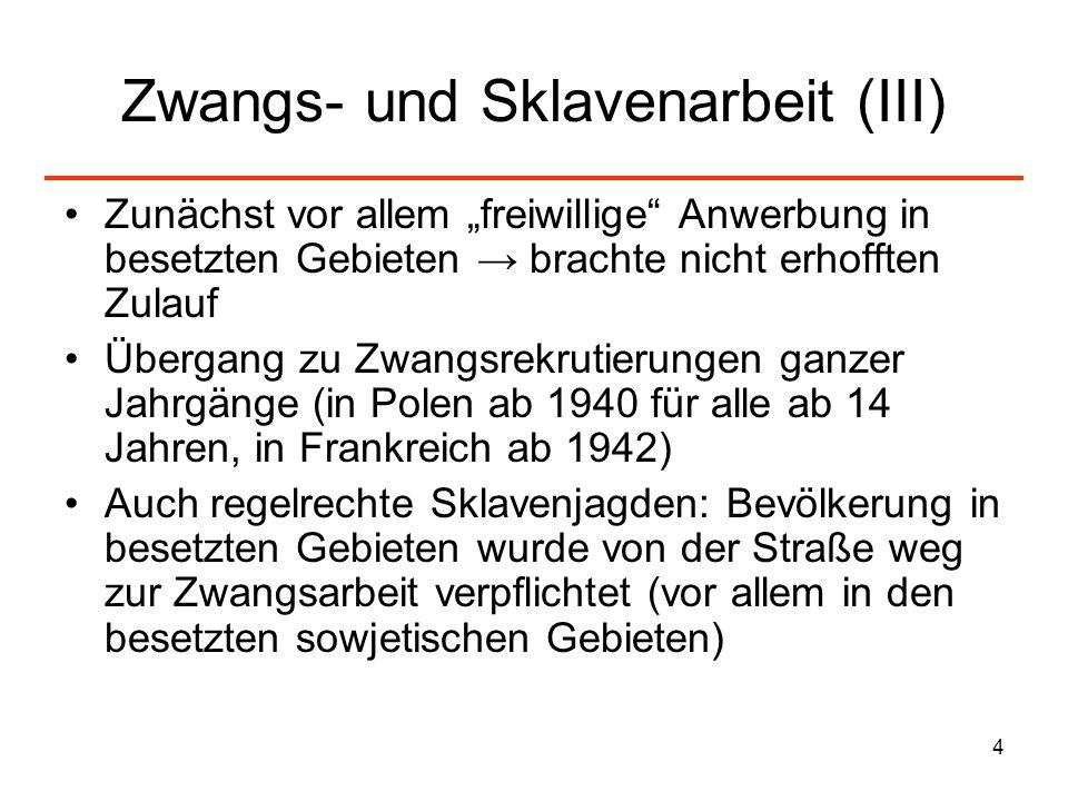 Zwangs- und Sklavenarbeit (III)
