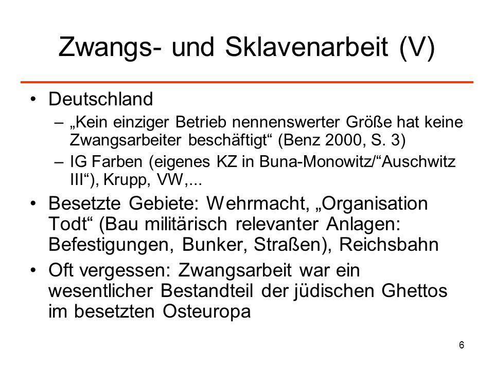Zwangs- und Sklavenarbeit (V)
