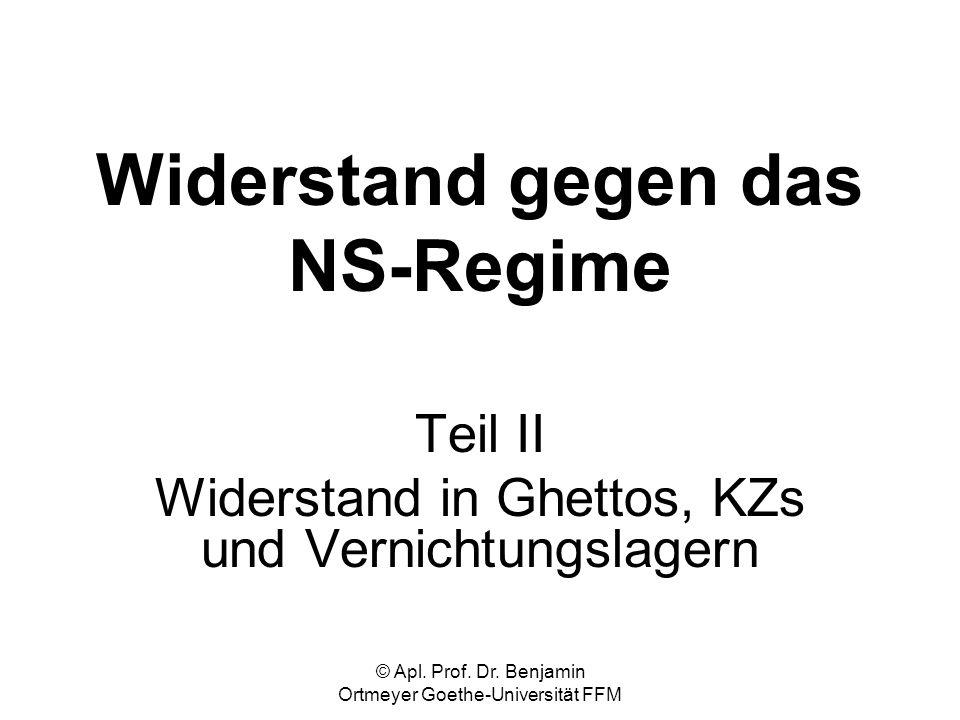 Widerstand gegen das NS-Regime