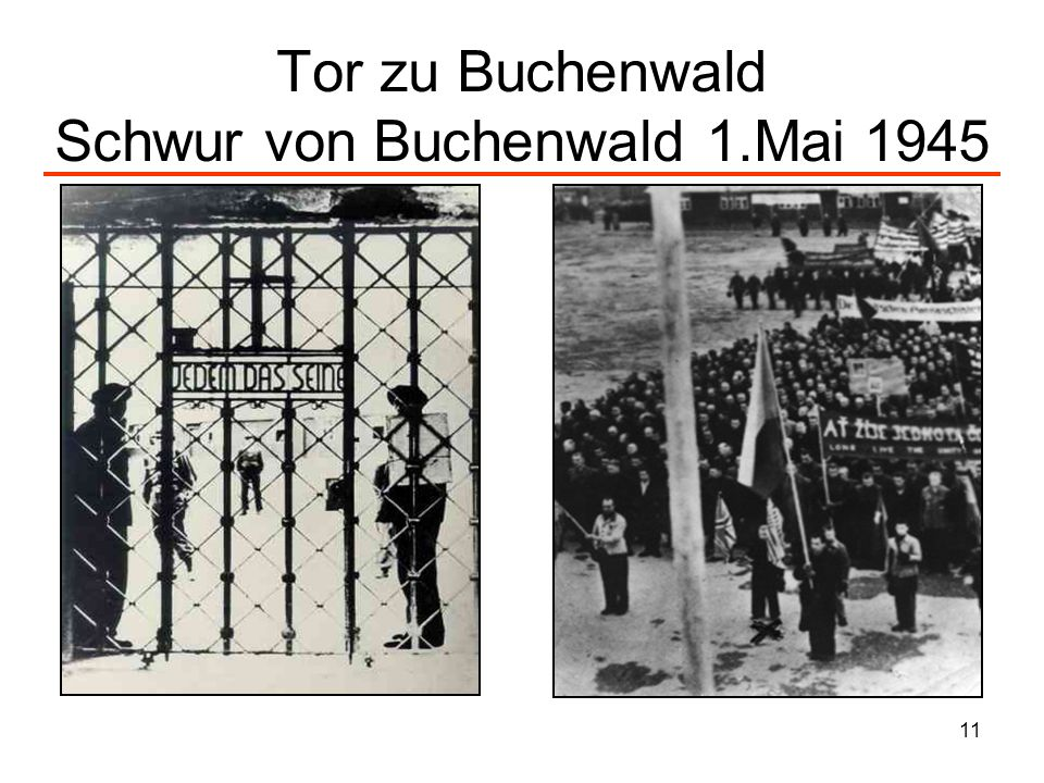 Tor zu Buchenwald Schwur von Buchenwald 1.Mai 1945
