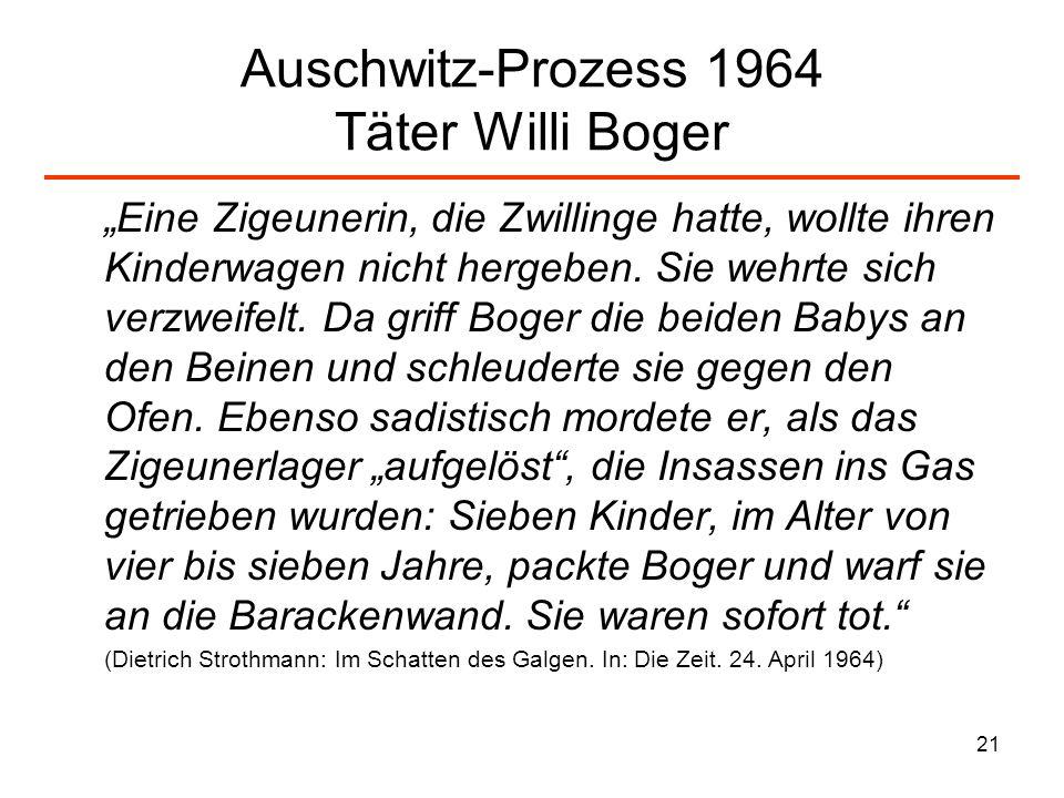 Auschwitz-Prozess 1964 Täter Willi Boger