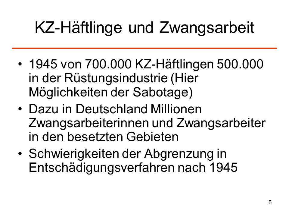 KZ-Häftlinge und Zwangsarbeit