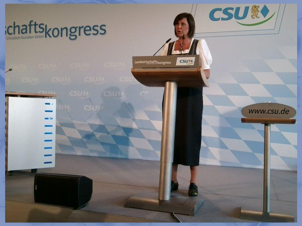 Ilse Aigner:... die CSU ist Anwältin des ländlichen Raumes...