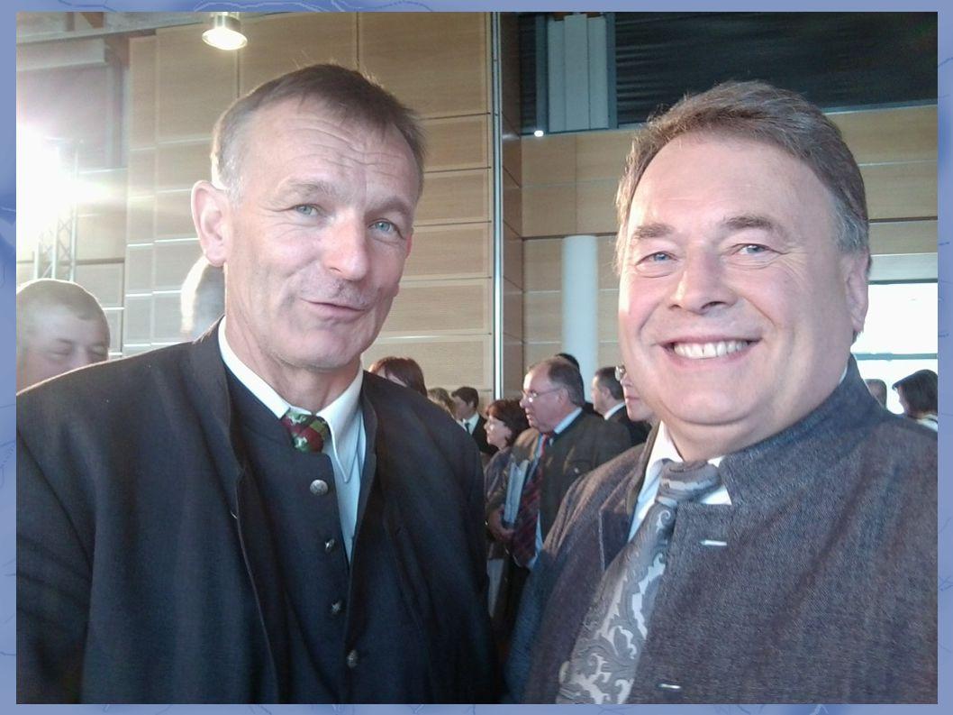 Hans Ritt mit Minister Helmut Brunner