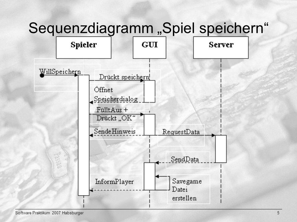"""Sequenzdiagramm """"Spiel speichern"""