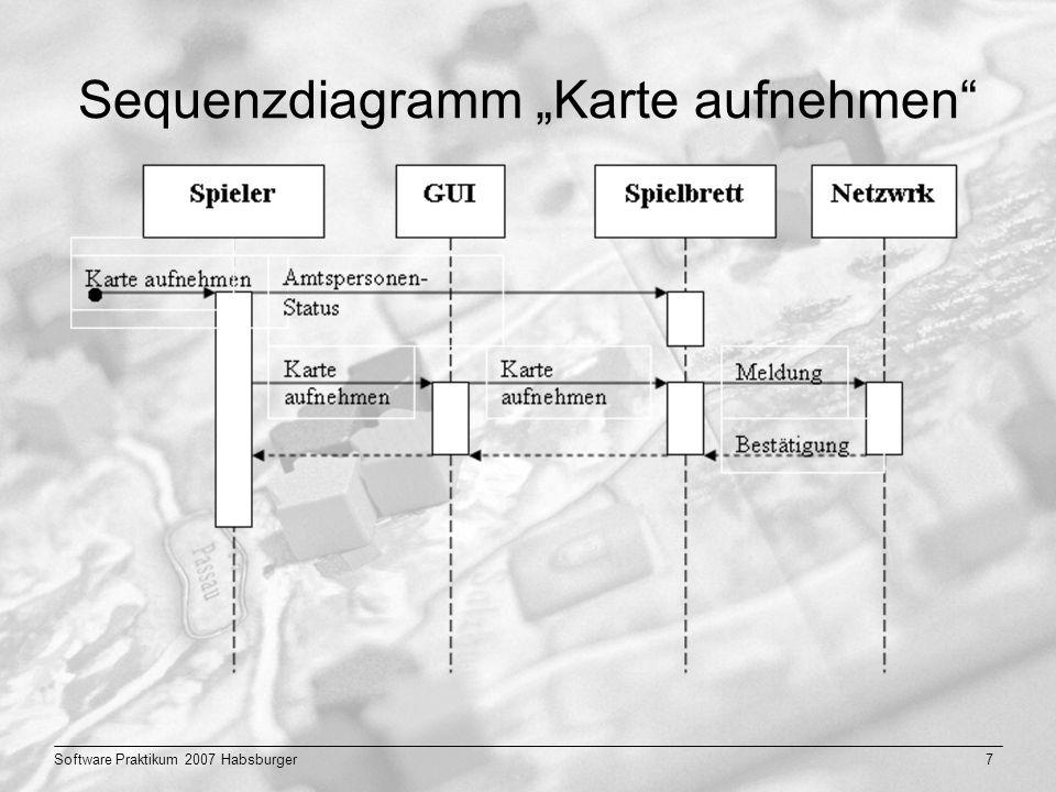 """Sequenzdiagramm """"Karte aufnehmen"""