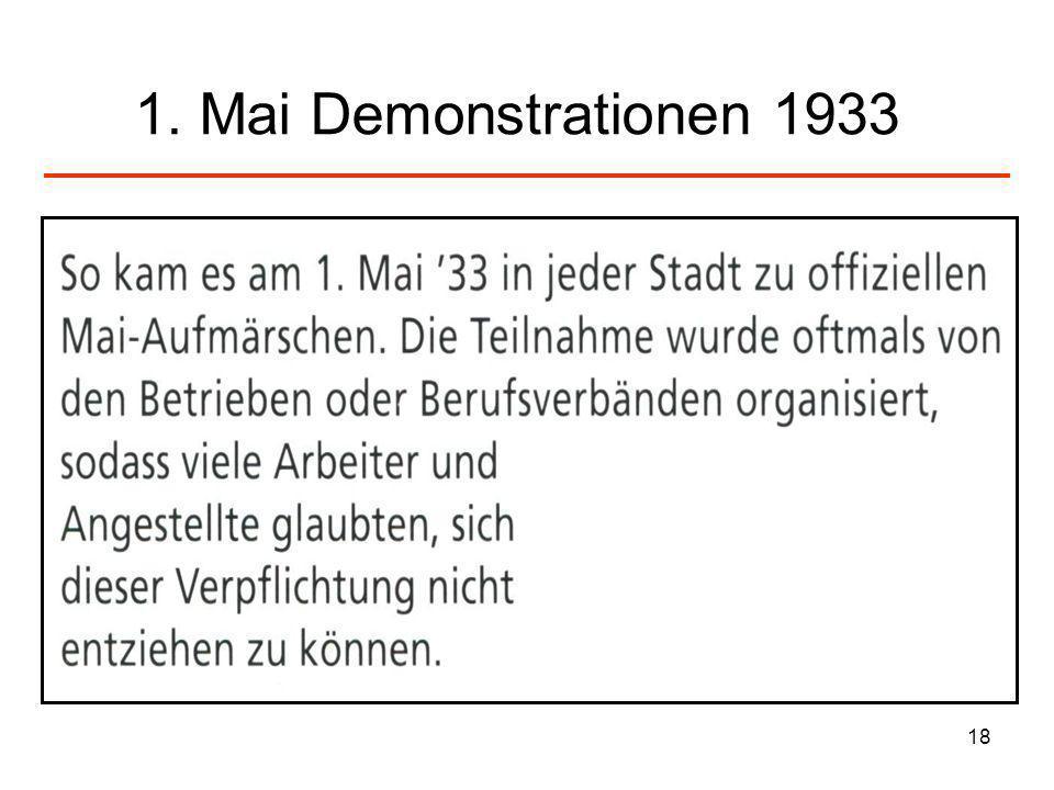 1. Mai Demonstrationen 1933