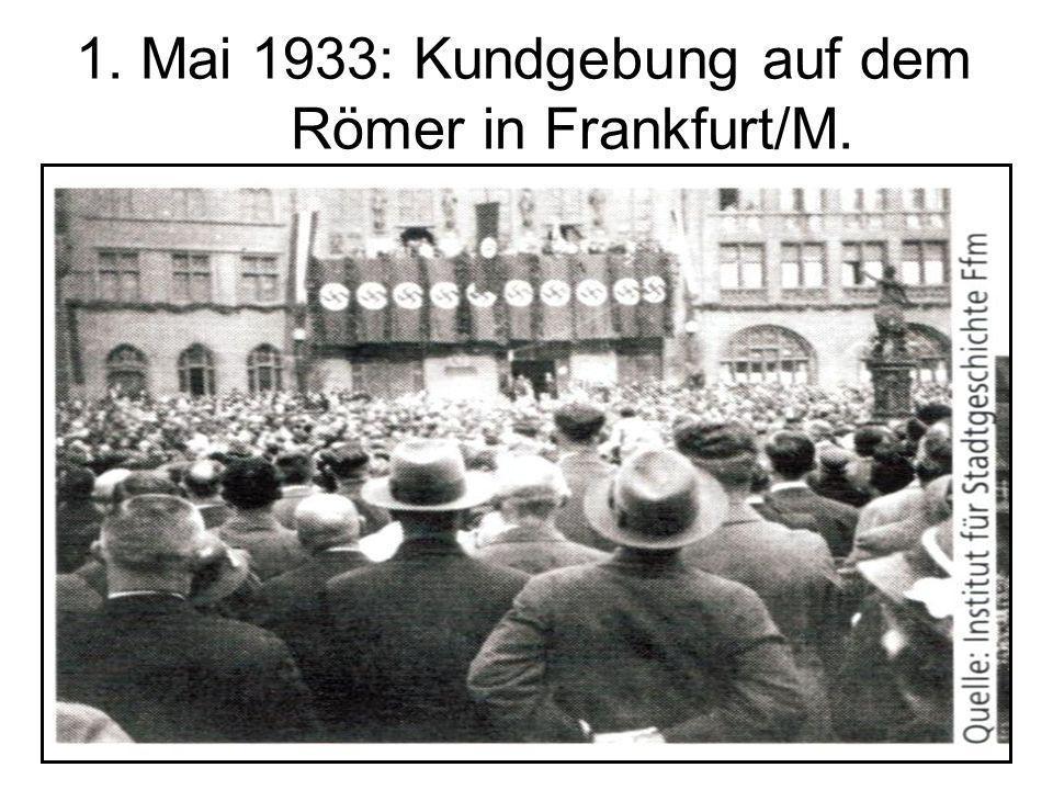 1. Mai 1933: Kundgebung auf dem Römer in Frankfurt/M.