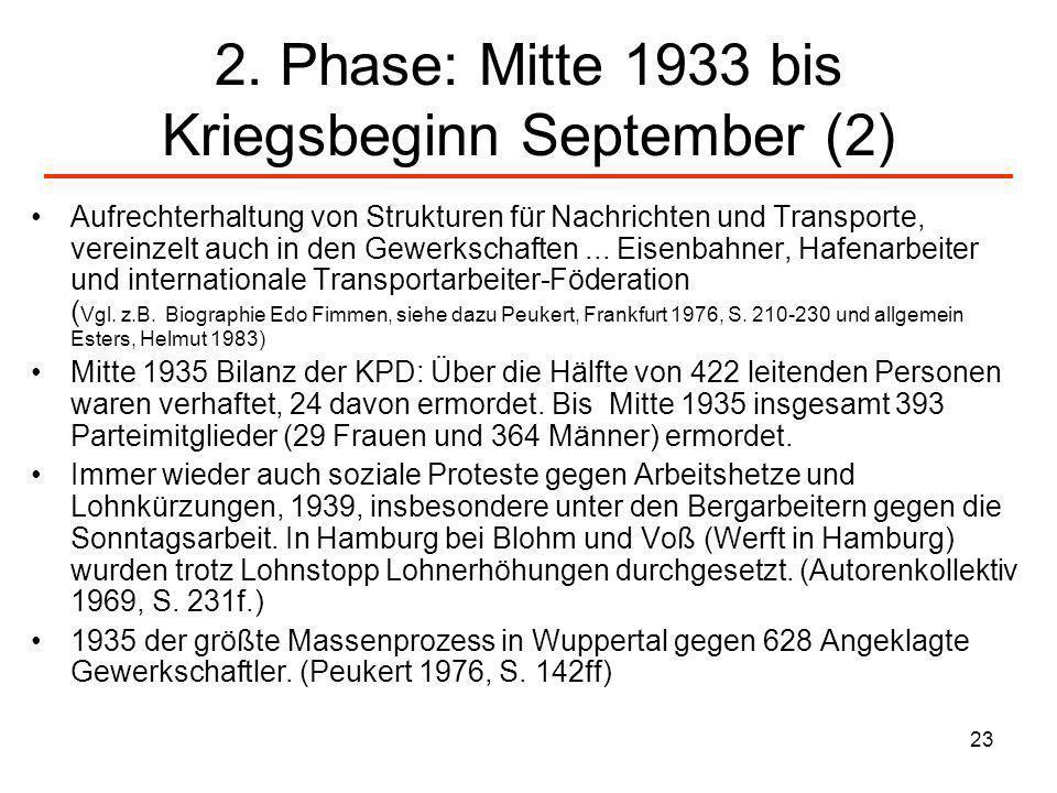 2. Phase: Mitte 1933 bis Kriegsbeginn September (2)