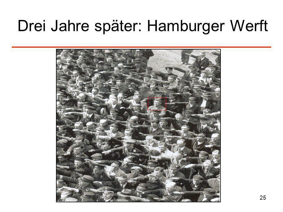 Drei Jahre später: Hamburger Werft