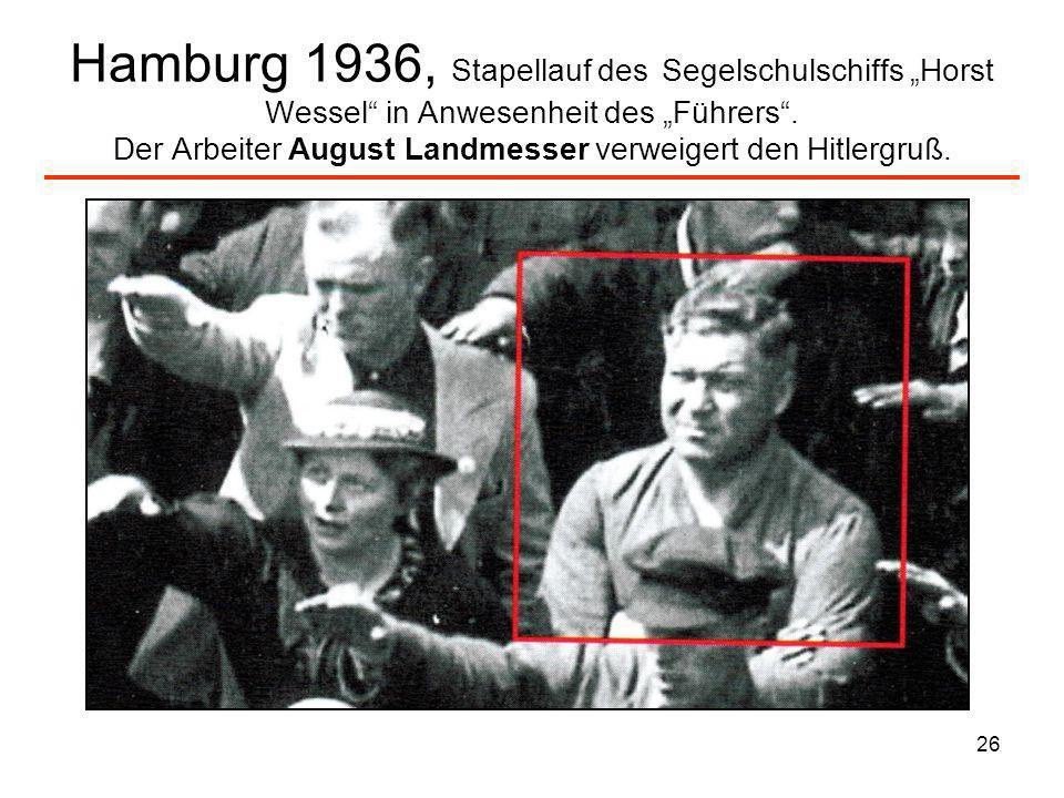 """Hamburg 1936, Stapellauf des Segelschulschiffs """"Horst Wessel in Anwesenheit des """"Führers ."""